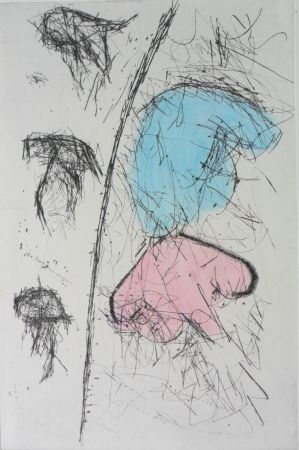 Etching Balle - Etching with watercolour