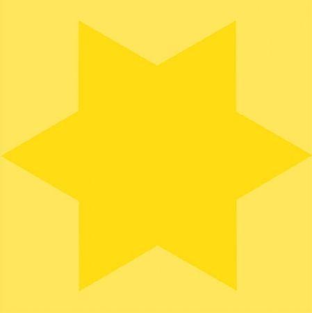Screenprint Mosset - Etoile jaune
