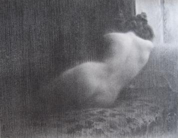 Lithograph Neumont - Etude / Boudeuse