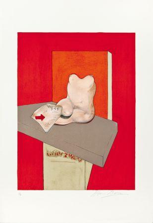 Lithograph Bacon - Etude de corps humain d'après Ingres
