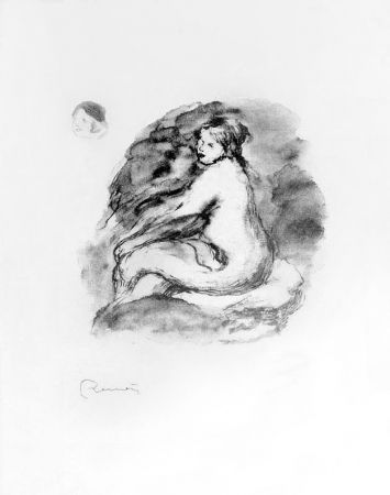 Lithograph Renoir - Etude de femme nue, assise, variante (Study of Seated Female Nude), c. 1904