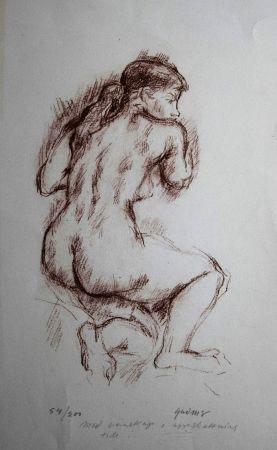 Lithograph Olovson - Etude de nu