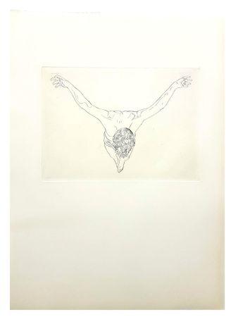 Lithograph Dali - Etude du Christ