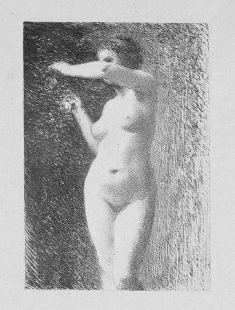 Lithograph Fantin-Latour - Etude pour Eve
