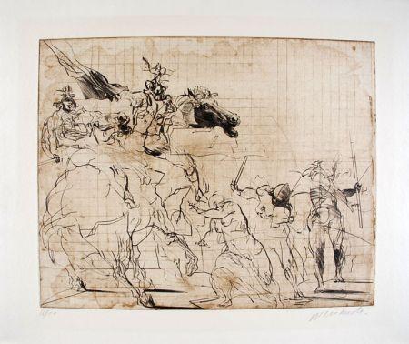 Lithograph Weisbuch - Etude pour les Sabines