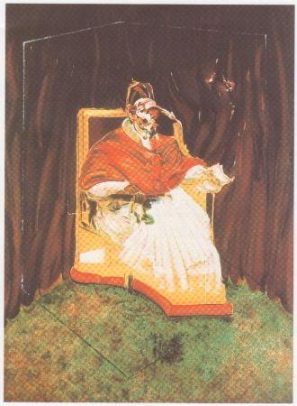 Lithograph Bacon - Etude pour un portrait du Pape Innocent X d'après Vélasquez.