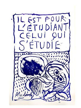 Poster Alechinsky - Etudiant