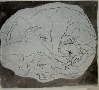 Lithograph Trémois - Europe et les Metamorphoses
