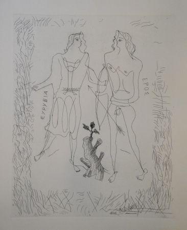 Etching Braque - Eurybia et Eros.