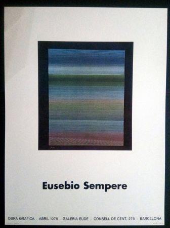 Poster Sempere - EUSEBIO SEMPERE GALERIA EUDE 1976