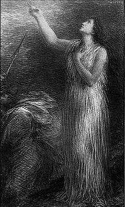 Lithograph Fantin-Latour - Evocation d'Erda (3º planche)
