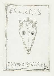 Engraving Giacometti - Ex Libris Du Bibliophile Edmond Bomsel.