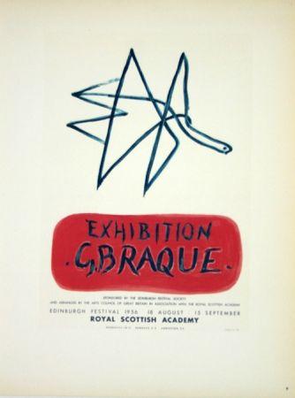 Lithograph Braque - Exhibition  Royal Scottish Academy