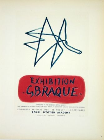 Lithograph Braque - Exhibition  Royal Scottish Academy