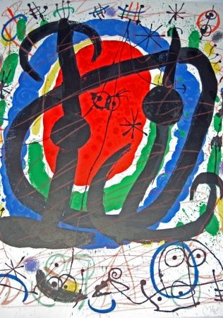 Lithograph Miró - Exhibition XXII Salon de Mai