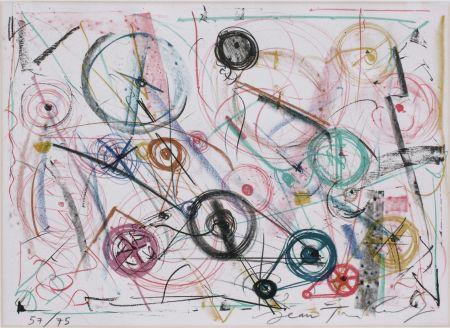 Lithograph Tinguely - Exlibris