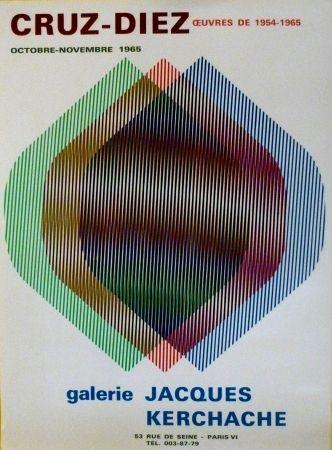 Screenprint Cruz-Diez - EXP jACQUES kERCHACHE 1965