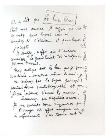Lithograph Cocteau - Explications