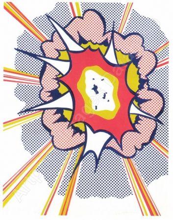Lithograph Lichtenstein - Explosion