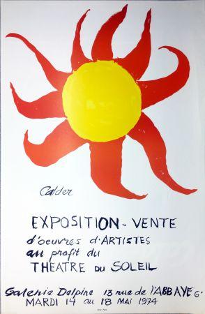 Poster Calder - Expo-vente au profit du Théâtre du Soleil à la Galerie Delpire en 1974.