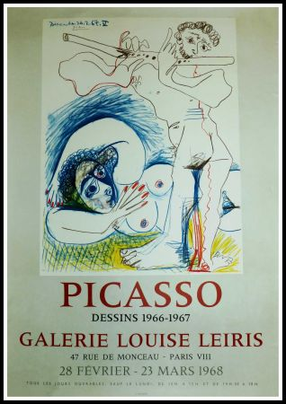 Poster Picasso - EXPO 1968 GALERIE LOUISE LEIRIS
