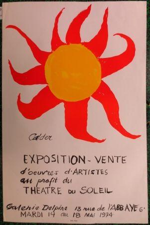 Lithograph Calder - Expo 74 - Galerie Delpire  au profit du théâtre du soleil