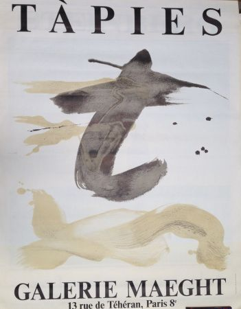 Lithograph Tapies - Expo Maeght