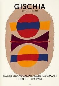 Poster Gischia - Exposition 1957