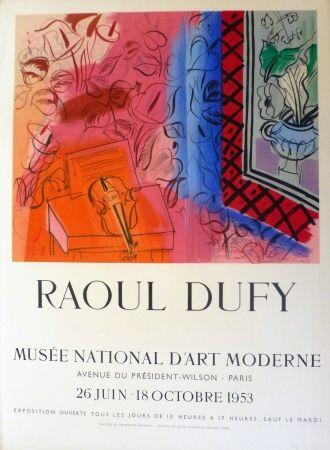 Lithograph Dufy - Exposition au musée national d'art moderne,Paris 1953