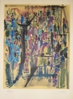 Lithograph Bryen - Exposition CNAC 1971