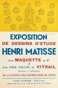 Lithograph Matisse - Exposition de dessins d'étude ,Vence