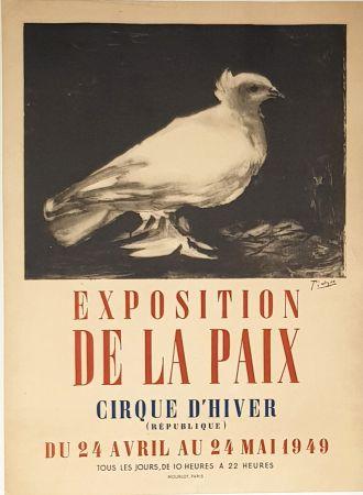 Lithograph Picasso - Exposition de la Paix