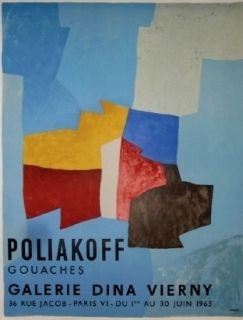 Poster Poliakoff - Exposition Dina Virny