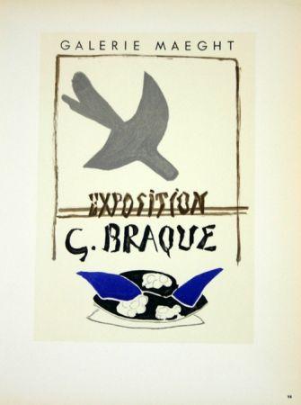 Lithograph Braque - Exposition G Braque