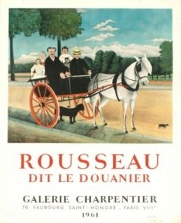 Lithograph Rousseau - Exposition galerie charpentier