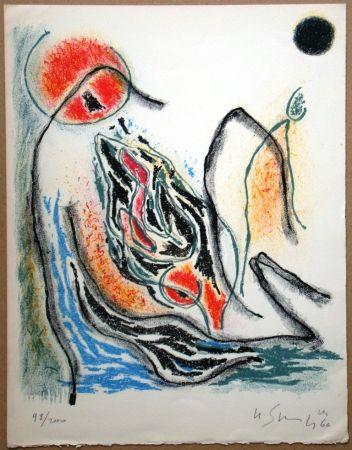 Lithograph Singier - Exposition Galerie de France