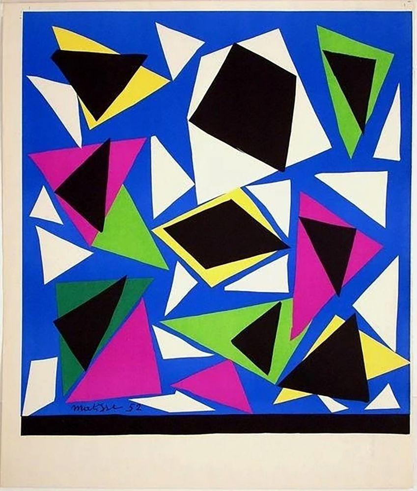 Lithograph Matisse - Exposition Galerie Kléber 1952. Épreuve de luxe avant la lettre sur vélin d'Arches