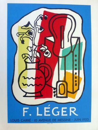 Lithograph Leger - Exposition Galerie Louis Carré, 1953
