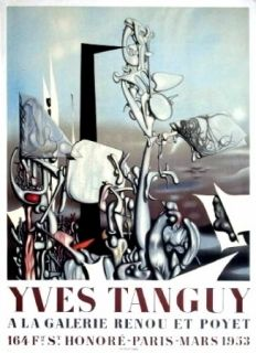 Poster Tanguy - Exposition Galerie Renou et Poyet