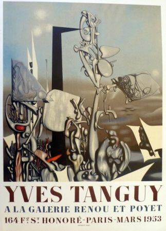 Lithograph Tanguy - Exposition galerie Renou et Poyet 1953