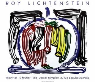 Poster Lichtenstein - Exposition galerie Templon
