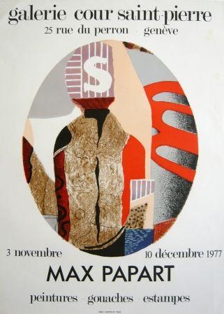 Lithograph Papart - Exposition genvève 1976