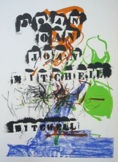 Lithograph Mitchell - Exposition Jean Fournier