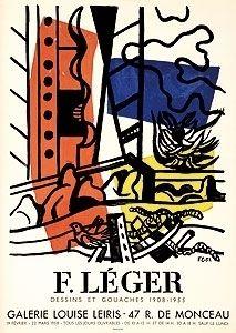 Lithograph Leger - Exposition Louise Leiris 1958