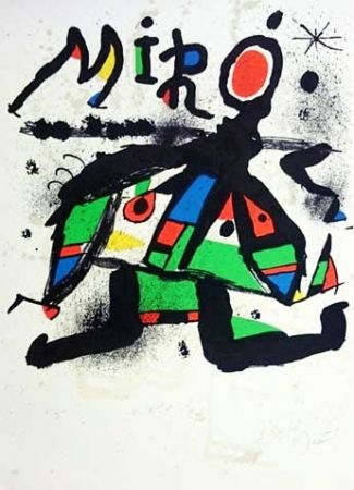 Lithograph Miró - Exposition Maeght