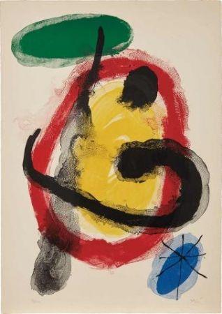 Lithograph Miró - Exposition Peintures Murales (Mourlot 227)