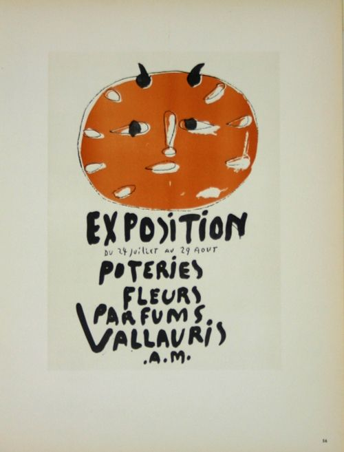 Lithograph Picasso (After) - Exposition Poteries Fleurs Parfums 1948