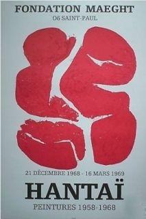 Lithograph Hantai - Exposition saint pol de vence