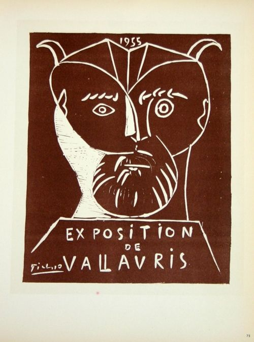 Lithograph Picasso (After) - Exposition  Vallauris 1955