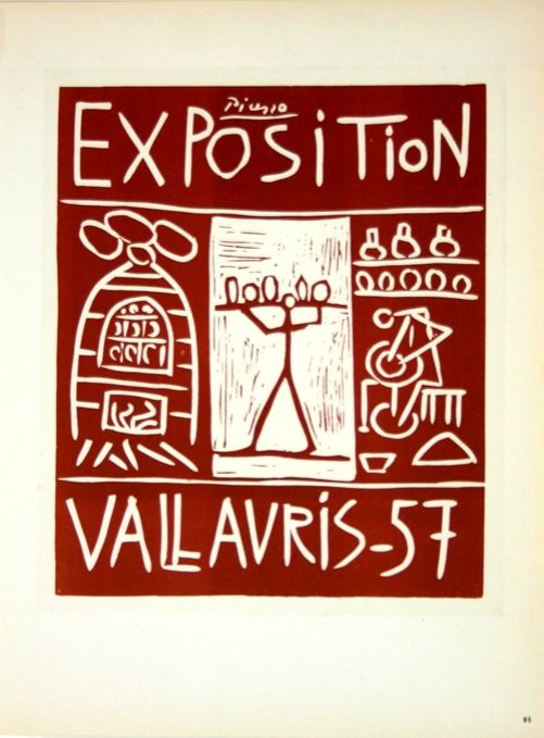 Lithograph Picasso (After) - Exposition Vallauris 1957